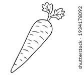 carrot line vector illustration ...   Shutterstock .eps vector #1934178092