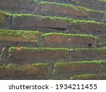 the stone walls are covered... | Shutterstock . vector #1934211455
