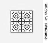 ceramic tile linear vector... | Shutterstock .eps vector #1934232905