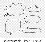 hand drawn set of doodle speech ... | Shutterstock .eps vector #1934247035
