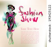 fashion show | Shutterstock .eps vector #193425122