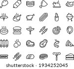 food line icon set   pizza... | Shutterstock .eps vector #1934252045