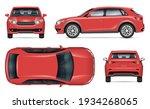 realistic suv vector mockup.... | Shutterstock .eps vector #1934268065