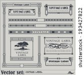 border style labels on... | Shutterstock .eps vector #193427822