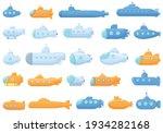 submarine icons set. cartoon... | Shutterstock .eps vector #1934282168