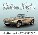 retro car cabriolet vector draw ... | Shutterstock .eps vector #1934300222