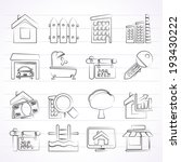 real estate icons   vector icon ... | Shutterstock .eps vector #193430222