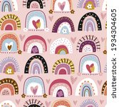childish seamless pattern with... | Shutterstock .eps vector #1934304605