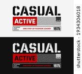 casual active  typography...   Shutterstock .eps vector #1934306018