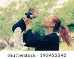 portrait of happy loving mother ... | Shutterstock . vector #193433342