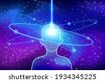 astral fusion with universe...   Shutterstock .eps vector #1934345225