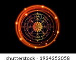 wheel of the year is an annual... | Shutterstock .eps vector #1934353058