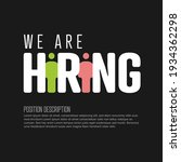 we are hiring minimalistic...   Shutterstock .eps vector #1934362298