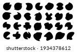 random black shapes for design. ... | Shutterstock .eps vector #1934378612