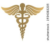 caduceus symbol icon. medicine... | Shutterstock .eps vector #1934383205