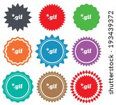 file gif sign icon. download... | Shutterstock .eps vector #193439372