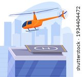 the helicopter flies over the...   Shutterstock .eps vector #1934404472