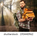handsome traveler with backpack ... | Shutterstock . vector #193440962