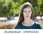 beautiful young woman portrait  ... | Shutterstock . vector #193441322