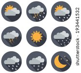 Weather Vector Icons. Flat...