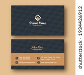 business or visiting card with... | Shutterstock .eps vector #1934426912