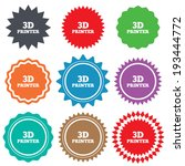 3d print sign icon. 3d printing ... | Shutterstock .eps vector #193444772