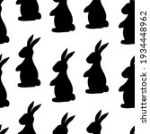 seamless pattern easter bunny... | Shutterstock .eps vector #1934448962
