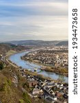 Aerial Shot Of The Mosel River...