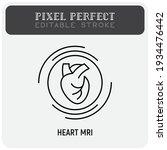 human heart mri scan thin line... | Shutterstock .eps vector #1934476442