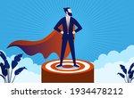 successful superhero leader on...   Shutterstock .eps vector #1934478212