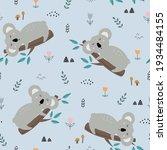 koala seamless pattern cartoon...   Shutterstock .eps vector #1934484155