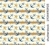 nautical marine seamless... | Shutterstock .eps vector #1934490935