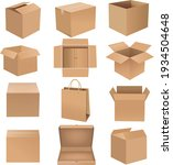 shipping box big set isolated... | Shutterstock .eps vector #1934504648
