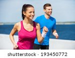sport is our life.  cheerful... | Shutterstock . vector #193450772