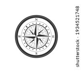 compass graphic icon. wind rose ... | Shutterstock .eps vector #1934521748
