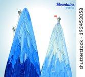 hand drawn snow peak mountain... | Shutterstock .eps vector #193453058