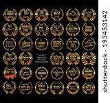premium quality golden laurel... | Shutterstock .eps vector #193453142