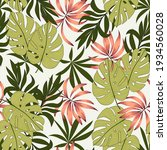 tropical pattern with abstract... | Shutterstock .eps vector #1934560028