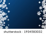 Gray Snowfall Panoramic Vector...