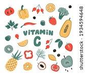 vector vitamin c sources set.... | Shutterstock .eps vector #1934594648