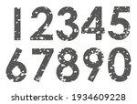 set of grunge numbers.vector... | Shutterstock .eps vector #1934609228