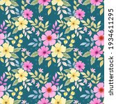 abstract floral seamless...   Shutterstock . vector #1934611295