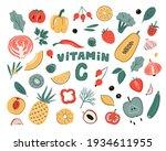 vector vitamin c sources set.... | Shutterstock .eps vector #1934611955