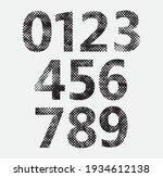 set of halftone textured... | Shutterstock .eps vector #1934612138