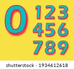 retro numbers with halftone... | Shutterstock .eps vector #1934612618
