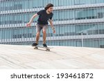 young boy skateboarder at the... | Shutterstock . vector #193461872