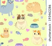 seamless pattern with different ... | Shutterstock .eps vector #193462286