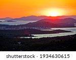 Murter Island. Colorful Sunset...