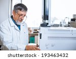 senior male researcher carrying ... | Shutterstock . vector #193463432