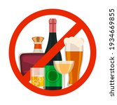 no alcohol icon. alcoholic... | Shutterstock .eps vector #1934669855
